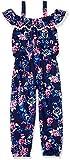 One Step Up Little Girls' Knit Jumpsuit, Navy Noir Floral, 4