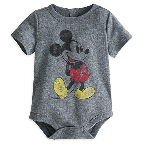 Disney Mickey Mouse Disney Cuddly Bodysuit for Baby Size 6-9 MO Multi ()