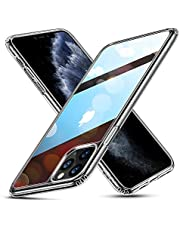 ESR Case Compatible with iPhone 11 Pro Max, 9H Tempered Glass Back Cover with TPU Frame Scratch-Resistant, Soft Bumper Shock Absorption Protective, Case for iPhone 11 Pro Max, Clear