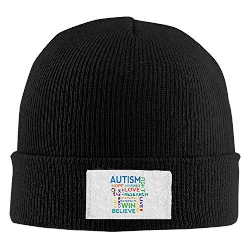 Autism Awareness Elastic Rib Knit Beanie Hats - Shipping Usps Brazil