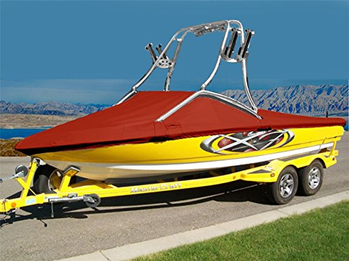 7oz Solution Dyed Polyester Material Custom Exact FIT Boat Cover Correct Craft Super AIR NAUTIQUE 230 W/Flight Control 5 Tower Folded Down W/O SWPF 2011-2012