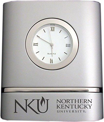 Northern Kentucky University- Two-Toned Desk Clock -Silver