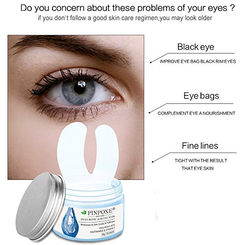 51sHXKkrbJL - Eye Treatment Masks,Under Eye Patches, Anti-Aging Mask, with Hyaluronic Acid, Hydrogel, Deep Moisturizing Improves elasticity, Treatment Pads for Dark Circles, Wrinkles, Eye Bag Removal, 50 PCS
