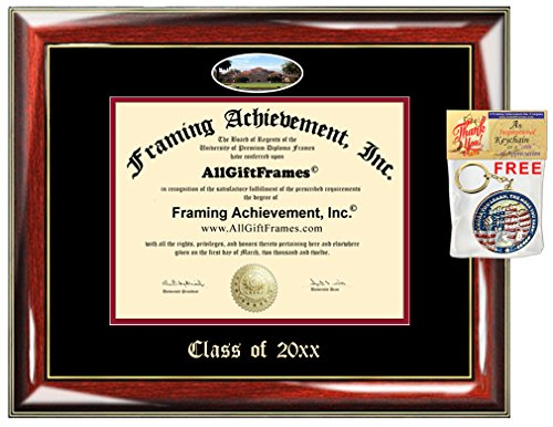 (AllGiftFrames Custom Diploma Frame Embossed Stanford University College Best Graduation Degree Frame Double Mat Campus Fisheye Stanford Picture Frame Certificate Graduate Gift)