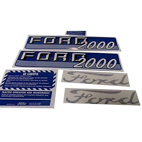 Complete Decal Set for Ford Tractor 2000 4 Cyl 1962-1964 Gas Diesel