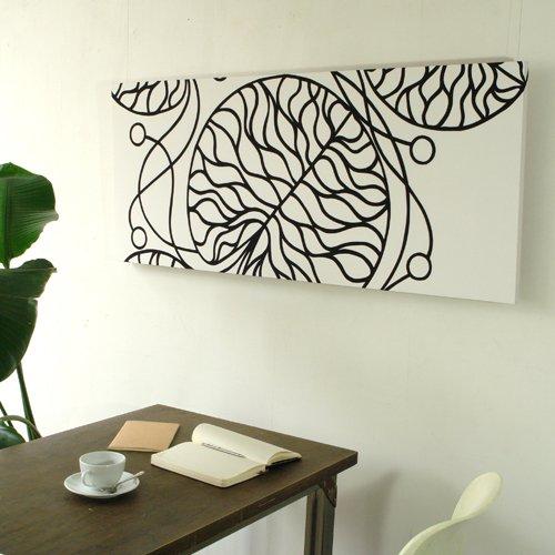 marimekko マリメッコファブリックアートパネル BOTTNA/WHITE 1200×500mm(類語/ファブリックボード,ファブリックパネル) B002G0UPS4