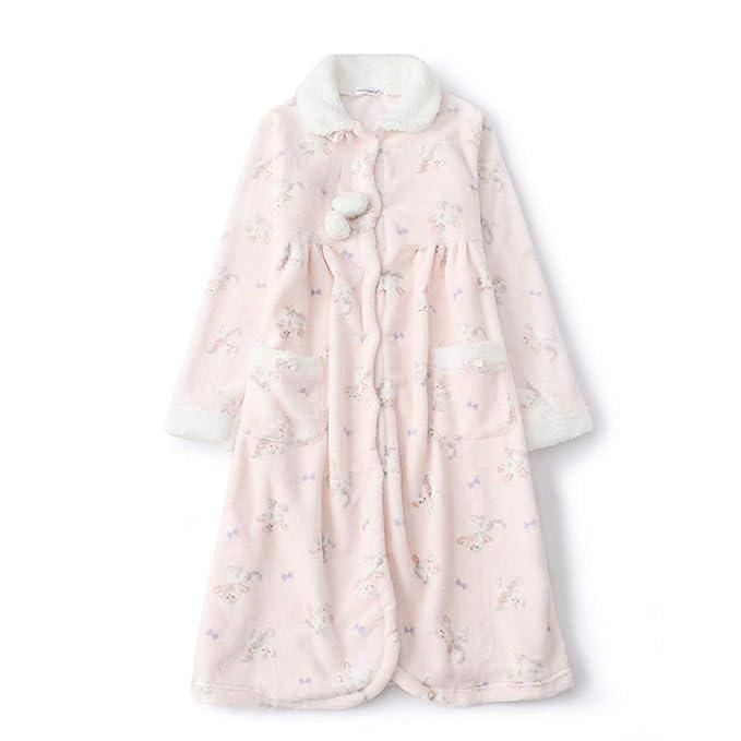 Mmllse Pijama De Terciopelo De Gato Pijamas De Bola De Pelo Lindo Femenino Largo Hogar Dulce Una Talla Rosa: Amazon.es: Ropa y accesorios