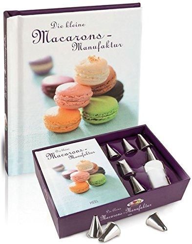 Die kleine Macarons-Manufaktur, (inkl. Geschenkbox mit Rezeptbuch, Spritzbeutel und 6 Metalltüllen)