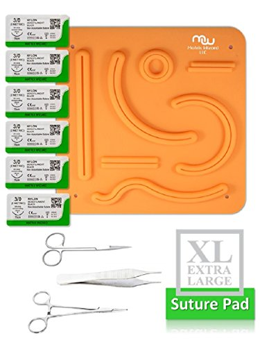 NEW Suture Practice Kit - 7.8 x 7.8 cm Suture Practice Pad, Suture Threads with Needle and Training Tools for Training Medical Students, Nurses, and Veterinarians to Master Suturing Skills