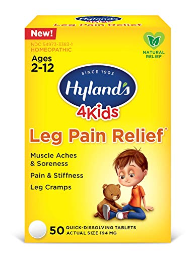 - Hyland's 4 Kids Leg Pain Relief, Natural Relief of Muscle Aches & Soreness, Stiffness, Leg Cramps, 50 Tablets