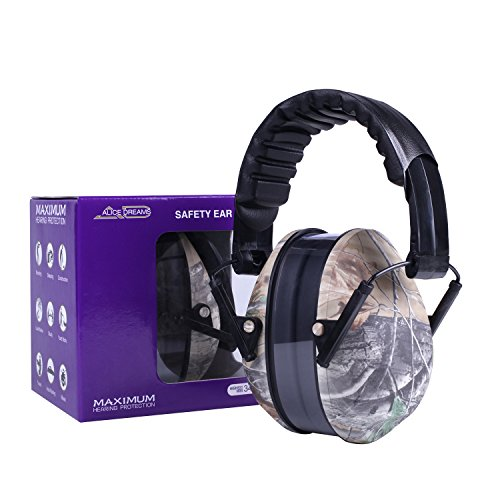 Alice Dreams Folding hearing protection soundproof game Earmuffs Ear Defenders with Noise Cancelling for shooting, hunting, indoor gun range, racing, reading, concert, studying and operating machinery