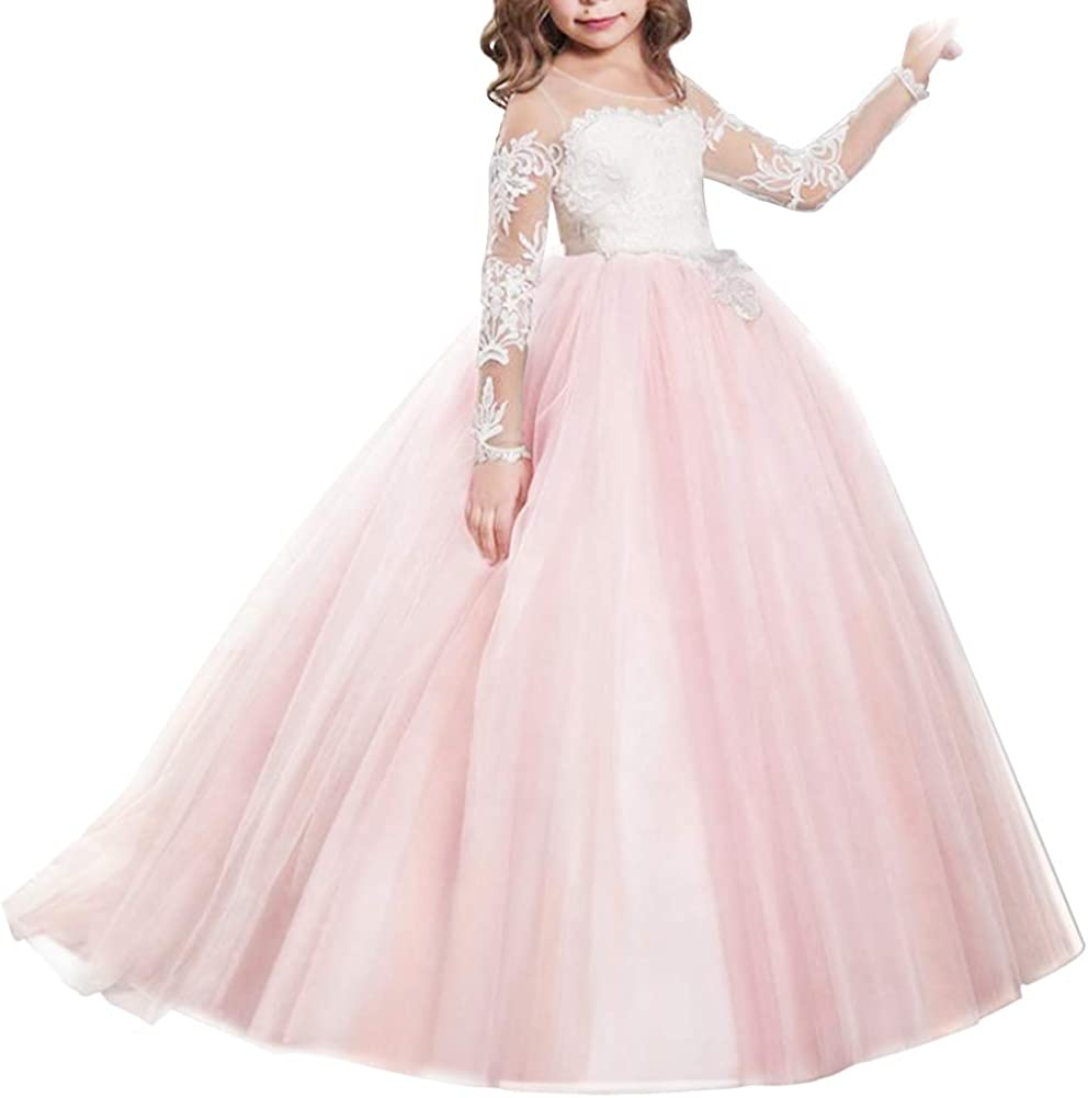 Amazon Com Ibtom Castle Flowers Girls Long Tulle Lace Wedding Maxi Dress First Communion Birthday Kids Pageant Prom Formal Ball Gowns Clothing,Greek Roman Goddess Wedding Dress