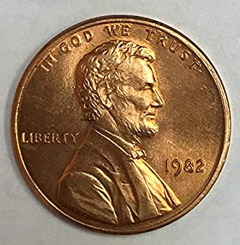 HAND PICKED GEM RED UNCIRCULATED 1982 P LINCOLN CENT LARGE DATE COPPER