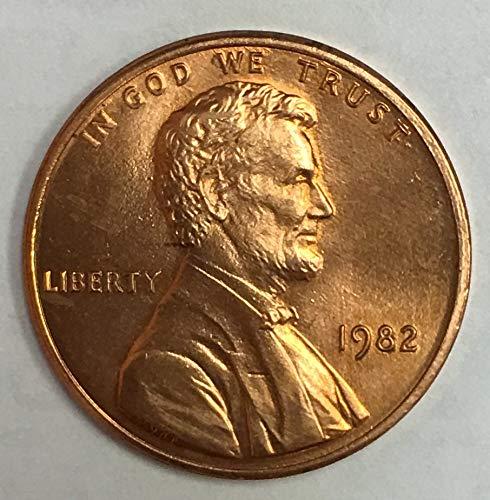 (1982 P Small Date Zinc Lincoln Memorial Cent BU)