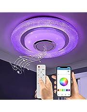 Wayrank Led-plafondlamp, kleurverandering met bluetooth-luidspreker