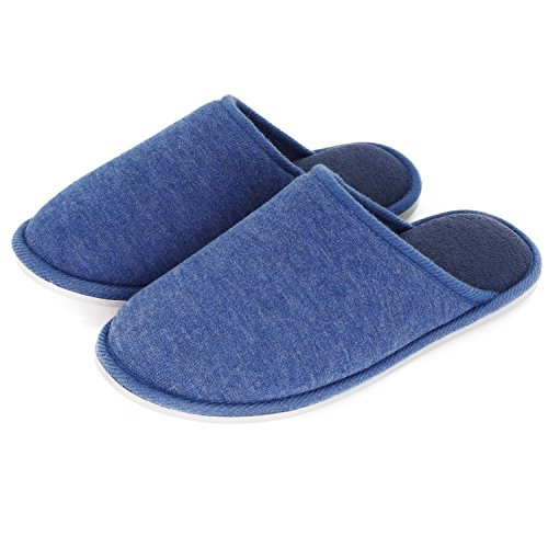 Washable Slipper Memory Slide Men Blue Anti Slippers Indoor Foam Home Skid Women Ladies Moodeng Lightweight House For Shoes xU7wvqEa
