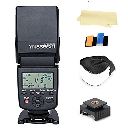 Yongnuo flash YN568ex ii Wireless Flash TTL Flash Speedlite for CANON Camera flash canon 50d + Two Free OOPSTEK Cleaning cloth for camera lenses canon lenses by YONGNUO