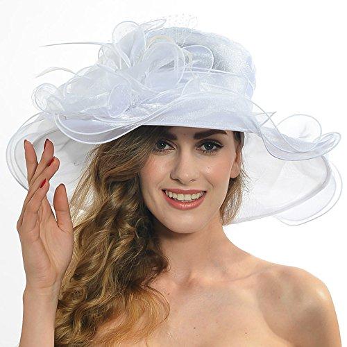 Wimdream Women Kentucky Derby Church Dress Organza Hat Tea Party Hat S020 (Womens Fashion Derby)
