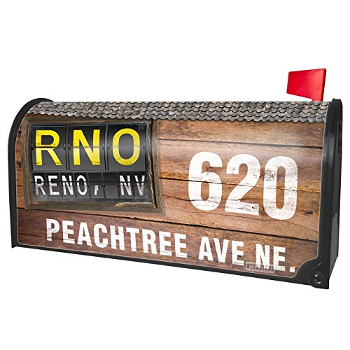 NEONBLOND Custom Mailbox Cover RNO Airport Code for Reno, NV (Outdoor Nv Design Reno)