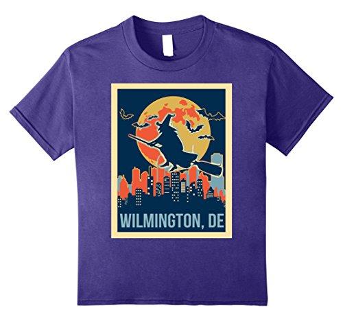 Kids wilmington Delaware halloween shirt 10 Purple (Wilmington Halloween)