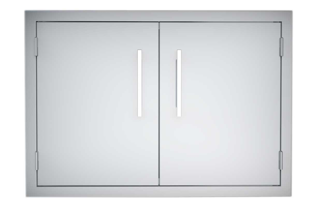 Sunstone B-DD30 Double Raised Doors for Stone Island with Shelves, 30-Inch