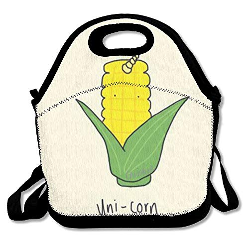 Corn Unicorn Fashion Cute Lunch Bag Lunch Backpack Casual Lunch Box Lunchboxes Lunch Pouch Durable Lunch Tote For Kids And Adults