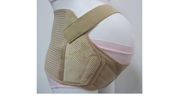 NUEVA faja de embarazo prenatal de ALTO CALIDAD XL beige: Amazon.es: Bebé