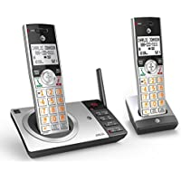 AT&T CL82207 DECT 6.0 Expandable Cordless Phone with Answering System & 2 Handset (Silver/Black)