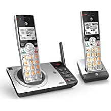 AT&T CL82207 DECT 6.0 Expandable Answering System with Smart Call Blocker, Silver/Black with 2 Handsets