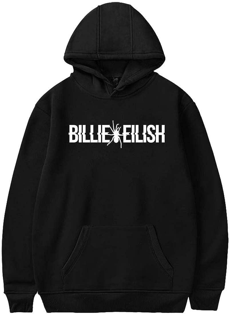 FLYCHEN Fille Sweat /à Capuche /à Manches Longue When we Fall Asleep /él/ément Musique chanteuse Billie Eilish Sweat s Fans Sweats