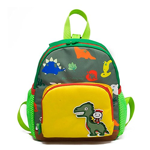 Realdo Unise Boys Girls Kids Bag Cartoon Dinosaur Pattern Backpack Toddler School Backpack Daypack