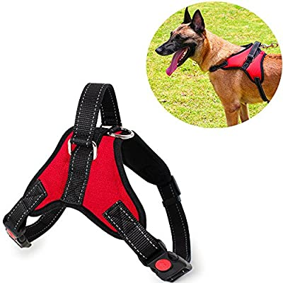 No Pull Dog Harness Vest Adjustable Safety Pet Harnesses Reflective With Handle Small Medium Large Breed Padded Chest Vest For Walking Training Choke Free