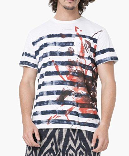 Desigual Herren T-Shirt weiß weiß