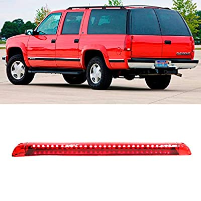 Center High Mount Stop Light Third 3rd Brake Light Lamp Assembly Fits for 1992-1999 Suburban Yukon Suburban 2000-2004 /Tahoe 1995-2000 /Blazer 1994-2005(Red Lens): Automotive