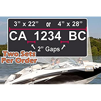 Amazoncom Custom Made  Boat Registration Numbers Decal - Custom boat numbers