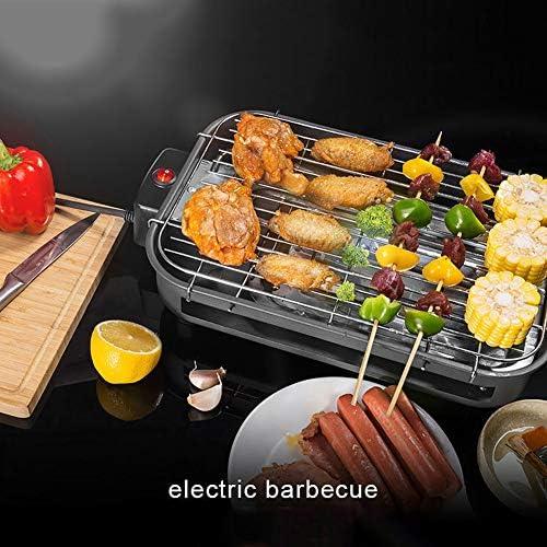 Gril De Barbecue De Jardin, Gril De Barbecue Électrique Extérieur Barbecue sans Fumée Même Distribution De Chaleur Conception Séparée Facile À Nettoyer