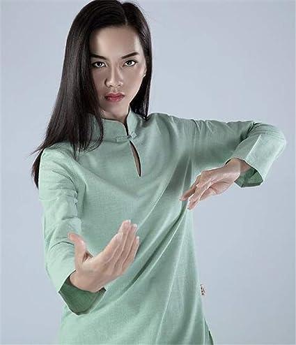 peiwen Chino de Algodon Natural y Trajes de Lino Women  s Yoga  Desgaste Confortable Ropa de Deportes al Aire Libre Tops y Pantalones   Amazon.es  Deportes y ... 707e0797f78c