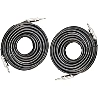 Ignite Pro 2x 1/4 to 1/4 50 Ft. True 12 Gauge Wire AWG DJ/ Pro Audio Speaker Cable, Pair