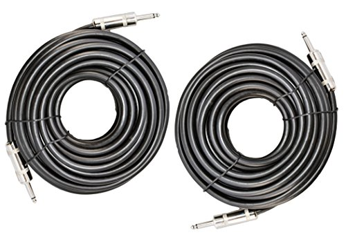 Ignite Pro 2x 1/4' to 1/4' 50 Ft. True 12 Gauge Wire AWG DJ/ Pro Audio Speaker Cable, Pair
