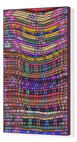 Arte En Lienzo De Textiles Para La Venta En Mercado De Artesanía La