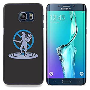 For Samsung Galaxy S6 Edge Plus - cool art no violence stop bat /Modelo de la piel protectora de la cubierta del caso/ - Super Marley Shop -