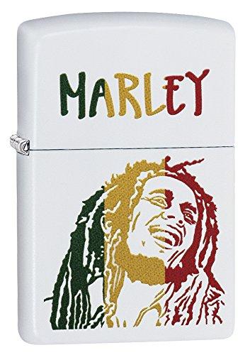 Zippo Bob Marley Classic White Matte Lighter