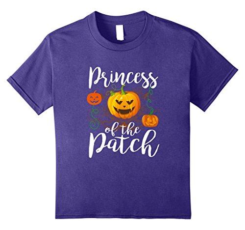 Pumpkin Patch Princess Costumes (Kids Princess of The Patch tshirt Halloween Pumpkin Costume shirt 8 Purple)