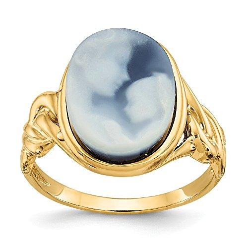 14k Heavens Gift Agate Cameo Ring (Agate 14k Heavens Gift)