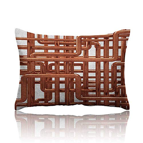 Industrial Cool Pillowcase Knot of Pipes Complex Design with Entangled Lines Hardware Industry Art Long Pillowcase 20