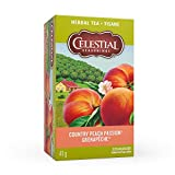 Celestial Seasonings Tea Country Peach Passion Herbal Tea, 20 Tea Bags per box, 1 box