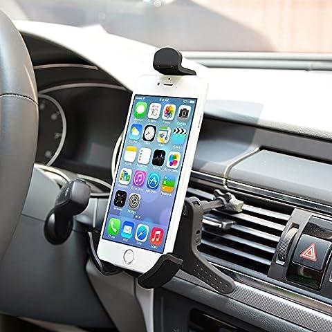Life-Tech car vent cell phone holder mount For ZTE Prestige / Avid Plus / Obsidian / Axon A1P / Sonata 2 / Overture 2 / Maven / Imperial II / FanFare / Quartz / Maven 2 / Sonata (Phone Quartz)