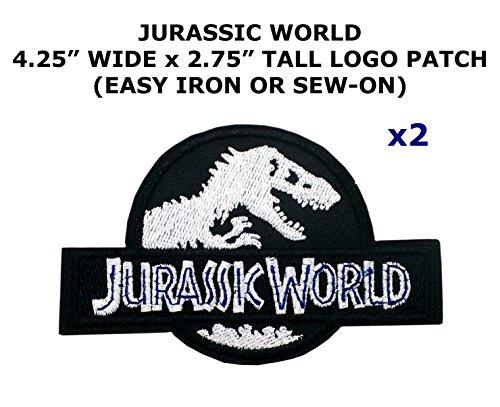 2 PCS Jurassic World Theme DIY Iron / Sew-on Decorative Applique (Raptor Costume Diy)