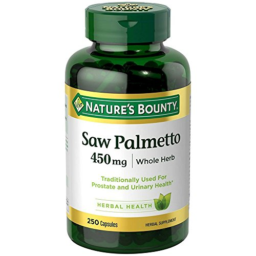 Saw Palmetto Capsules - Nature's Bounty Saw Palmetto 450 mg Capsules 250 ea (Pack of 2)