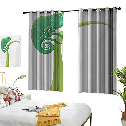 Superlucky Blackout Draperies for Bedroom,Reptile,55